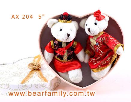 中式婚礼小熊一对