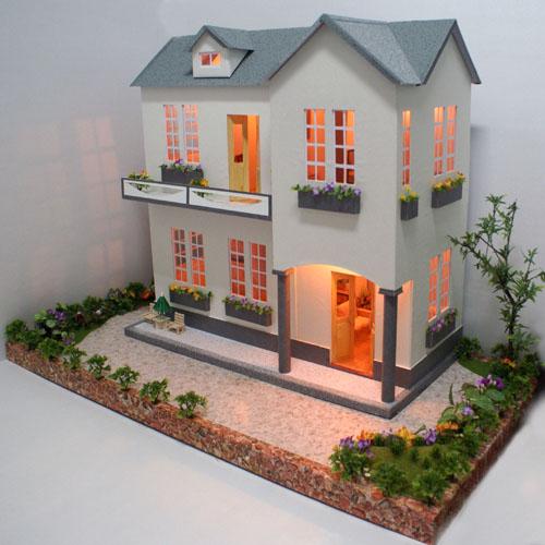 纸盒子别墅制作图解