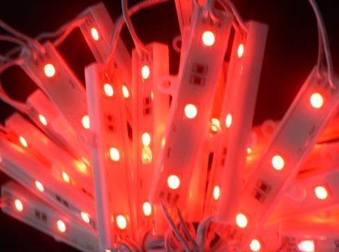 红色发光电路板图片背景
