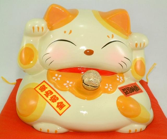 铃铛矮福猫存钱筒 超可爱的中型铃铛矮福猫, 矮矮胖胖