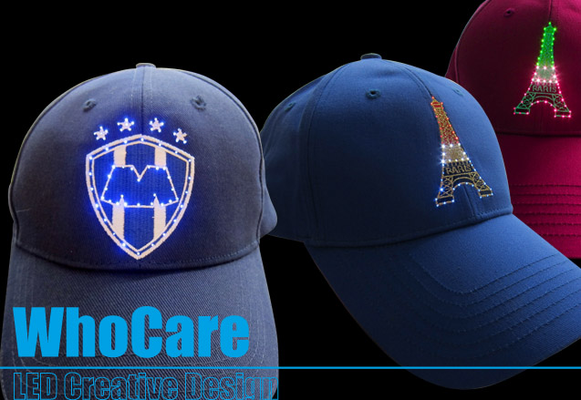 led 光纤闪光帽子创意设计与开发制作