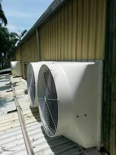 抽風機 工廠廠房-廠房排溫 抽風機安裝