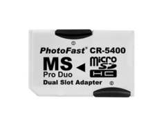 PhotoFast CR-5400 MICRO SD TO MS PRO DUO Dual Slot 產品圖展示