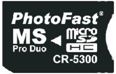 PhotoFast CR-5300 Micro SD TO PRO DUO 轉接卡 產品圖展示