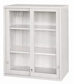 玻璃加框拉門上置式鋼製公文櫃