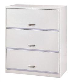 抽屜三層式鋼製公文櫃