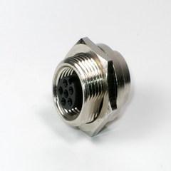防水接頭線材  連接器M9母 ( 板外鎖 )
