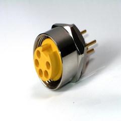 防水接頭線材  連接器M22母(板内鎖 PCB )