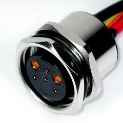 防水接頭線材  連接器M24母(板端焊線式)