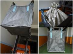 BF110, 上大開口(襯裙)、下平底太空袋.尺寸90*90*110公分.