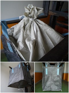 BS110, 上大開口(襯裙)、下漏斗太空袋.尺寸90*90*110公分