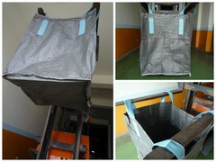 NF110, 上大開口(無蓋)、下平底太空袋.尺寸90*90*110公分.(1000公斤用袋)