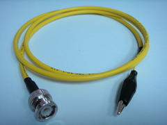 Triaxial BNC(公) to 鱷魚夾-Cable