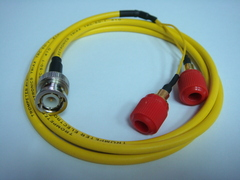 Triaxial BNC(公) to Banana(2母)-Cable
