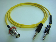 Triaxial BNC(母) to Banana(2公)-Cable