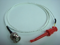 Coaxial(公) to 測試勾(signal)-Cable