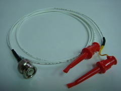 Coaxial(公) to 2測試勾(signal+ground)-Cable