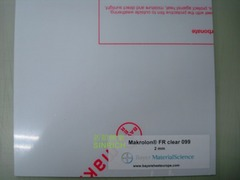 PC板-進口拜耳模克隆 MAKROLON®FR 防火級 產品圖展示
