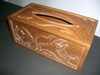木製雕刻面紙盒