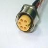 <font color=#FF0033>防水接頭</font>線材  連接器M22母(板焊線)