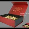 茶葉禮盒 設計 印刷 製作:內隔板+綢緞布,磁鐵x2組