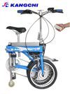 可遙控電動摺疊自行車