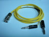 Triaxial(公) to Banana(2公signal+ground)-Cable