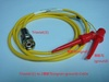 Triaxial(公) to 2測試勾(signal+ground)-Cable