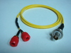 Triaxial(母) to Banana(2母signal+ground)-Cable