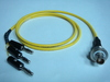 Triaxial(母) to Banana(3公signal+guard+ground) cable