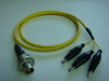 Triaxial(母) to 3鱷魚夾(signal+guard+ground)-Cable