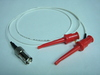 Coaxial(母) to 2測試勾(signal+ground)-Cable