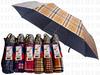 UV蘇格蘭格雙動三折傘
