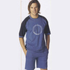 Men's short pyjamas made of pure cotton